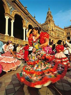 April Fair, Seville, Spain. Pinterest is going to kill me with all these places I can't go to!!