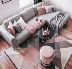 Gray Sofa Set Idea for What Color Carpet Question - New Deko Sites Living Room Grey, Home Living Room, Living Room Designs, Living Room Decor, Bedroom Decor, Dining Room, Wall Decor, Cottage Living, Cozy Living