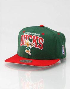 newest 16310 b205d Mitchell   Ness Arch Milwaukee Bucks Snapback Cap Milwaukee Bucks, Snapback  Cap, Sports Hats