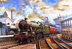 A late Fifties scene at Blackburn with new arrival 45671 Prince Rupert entering the station as a ex-Midland compound waits to leave. Train Pictures, Art Pictures, Transport Pictures, Steam Art, Steam Railway, Train Art, Railway Posters, Steam Engine, Steam Locomotive