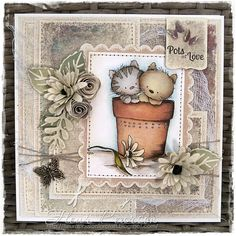 Pots of Love Card - Fleur