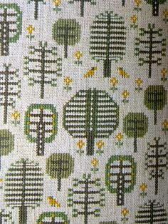 Vintage 60's book from Denmark with beautiful emboidery. Not tapestry, but adaptable for weaving