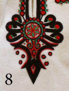 Folk Embroidery Embroidery motif on the trousers: folk costume from Podhale region, Poland. - Embroidery motif on the trousers: folk costume from Podhale region, Poland. Polish Embroidery, Hungarian Embroidery, Embroidery Motifs, Learn Embroidery, Embroidery Applique, Machine Embroidery, Embroidery Designs, Polish Folk Art, Folk Clothing