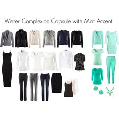 """Capsule with Mint"" by katestevens on Polyvore"