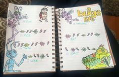 Disney A Bug's Life bullet journal  weekly spread princess ada flik #disney #bulletjournal #abugslife #weeklyspread