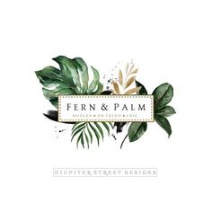 Premade Logo-Modern Logo-Logo Ontwerp-Fern Logo-Palm Logo-Natuur Logo-Boom Logo-B . Design Poster, Best Logo Design, Web Design, Design Art, Design Ideas, Custom Logo Design, Boutique Logo, Logo Nature, Art Nature
