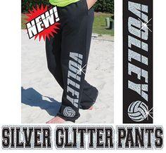 Glitter Volleyball Sweatpants!