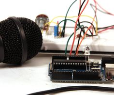Send sound into your Arduino. This Instructable will show you how to prepare audio so that it can be sampled and processed by an Arduino to make sound responsive projects and audio effects. (This article is a companion to another Instructable I've written about building an audio output circuit for an Arduino, find that here)Some ideas that come to mind include:beat detection- trigger lighting effects, build a set of turntables that beat match themselves, or make a robot that dances along…