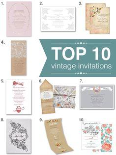 favorite vintage wedding invitations!
