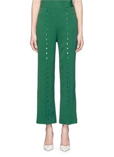 ROSIE ASSOULIN 'She'S Come Undone' Button Kick Flare Crepe Pants. #rosieassoulin #cloth #pants
