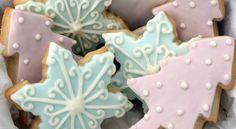 Μπισκοτάκια βουτύρου Χριστουγεννιάτικα με γλάσο ζάχαρης