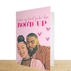 Ella Mai Boo'd Up Valentine's card. Amazing couple's valentines card for him and her.