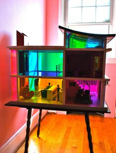 I am OBSESSED with the Kaleidoscope dollhouse. This house was designed for Laurie Simmons *lena's Mommy* I really, really want to get this for Liv's birthday