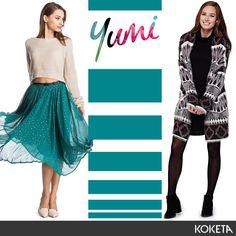 Φέρε το χρώμα στην ντουλάπα σου 👗 Yumi 👉https://www.koketa.gr/yumi