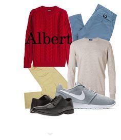 """Albert Style Study"" by andyryan on Polyvore featuring Vans, Balmain, Barba, NIKE, Steve Madden, men's fashion and menswear"