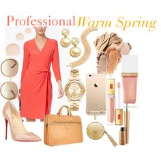 Professional: Warm Spring by prettyyourworld on Polyvore featuring Mode, Anne Klein, Christian Louboutin, Robe di Firenze, Michael Kors, David Yurman, Chloé, The Macbeth Collection, Tom Ford and Bobbi Brown Cosmetics
