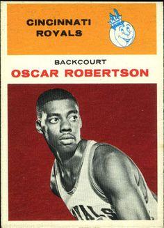 A look at Oscar Robertson's best basketball cards.