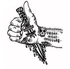 Dagger hand illustration