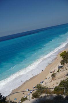 Egremni beach, Lefkada, Greece|  ✤ LadyLuxury✤