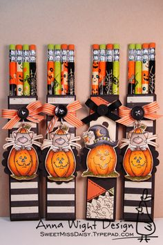 Halloween Pencil Favors - Anna Wight by SweetMissDaisy - Cards and Paper Crafts at Splitcoaststampers