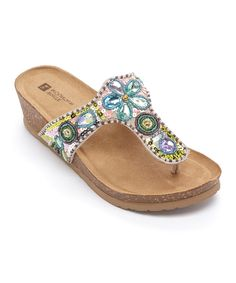 Look what I found on #zulily! White Mountain Pastel Bubbly Suede Sandal by White Mountain #zulilyfinds