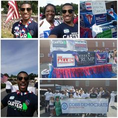 I had a great time walking in the Cobb County Fourth of July Parade in support of @carter4governor #CarterCorps