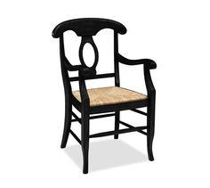 Napoleon® Rush Seat Side Chair, Antique White
