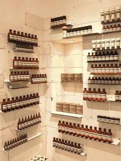 Aesop Soho London - #beauty #cosmetics #display