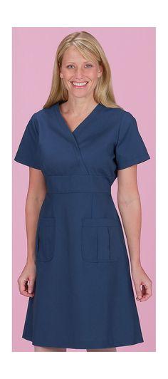 Scrubs - White Cross Tie Back Scrub Dress   Lydias Scrubs and Nursing Uniforms