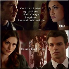 "Elijah! He defines what a eldest brother should be! The spin off show to ""vampire diaries"" - the originals"