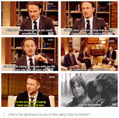 Andrew Lincoln on The Talking Dead, talking about Rick Grimes and Daryl Dixon's INTIMATE moment.