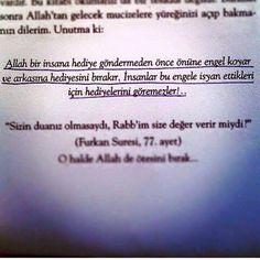 Allah bir insana hediye gondermeden once..