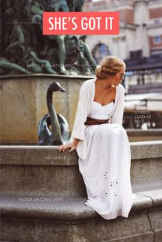 Effortless, romantic outfit. Perfect for summer!