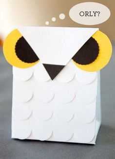 DIY Halloween Treat Bag : DIY Free Printable Owl Favor / Treat Box Templates