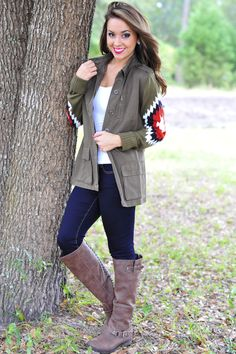 Follow The Leader Jacket: Olive