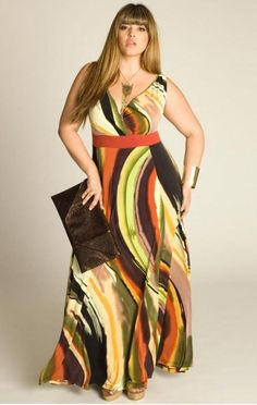 7952c68e918 Plus size maxi dresses for full figured fashion conscious ladies looking  for flattering summer fashions.