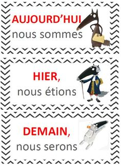 semaine du Loup qui French Expressions, French Language Lessons, French Language Learning, French Lessons, French Verbs, French Phrases, Teaching French, French Education, Homeschool