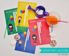 FREE PRINTABLES - Birthday party invitations