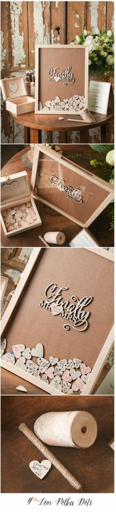 Finally Mr & Mrs Wooden Wedding Boho Alternative guest book frame drop box #weddingideas #dropbox #wood #wooden #mr&mrs #bohemian