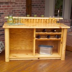 Moon Valley Rustic Furniture L 505 Portable Bar   Home Furniture Showroom