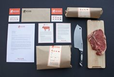 Amanda Alessi Branding // Packaging The shop environment is friendly with a strong emphasis on excellent customer service. With big supermarkets providing basic meat options at relatively low prices, owner Trent Matthews felt he needed a contemporary, bold design to stand out. The overall design reflects these values by using a bright red/ orange tone, a modern san-serif typeface and light-hearted animal illustrations.