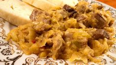 Segedínský guláš Meat Food, Goulash, Meat Recipes, Pork, Rice, Cooking, Kale Stir Fry, Kitchen, Pork Chops