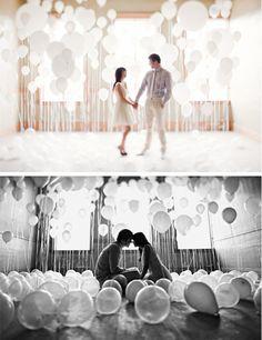 cutest engagement shoot ever. balloons.