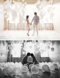 cutest engagement shoot ever. balloons.