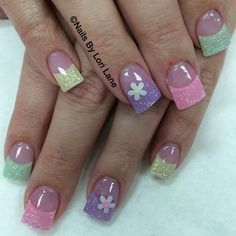 Fresh and easter like holiday nail designs, nail art designs, easter nail designs, Nail Design Spring, Spring Nail Art, Spring Nails, Summer Nails, Spring Art, Spring Time, Easter Nail Designs, Easter Nail Art, Nail Art Designs