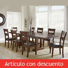 "Caden 7Piece Dining Set with 62"" Table Pocono House"
