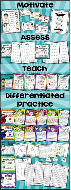 Back to School Math Games for Multiplication and Division | Math ...