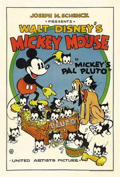 Theatrical poster of Walt Disney's Mickey Mouse in Mickey's Pal Pluto.