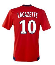 Maillot de foot Olympique Lyonnais Exterieur 2015/2016 (10 Lacazette) Rouge