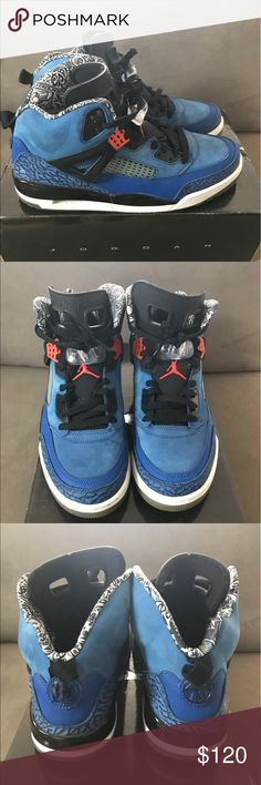9d03454f7b Jordan SpiZike Rare NY Knicks Pack Size 10.5 Very minimal cracking on the  inner sole.